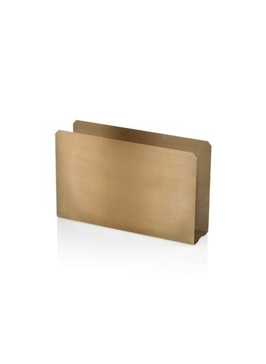 The Mia Peçetelik 13 x 8 Cm - Gold Kaplama Altın